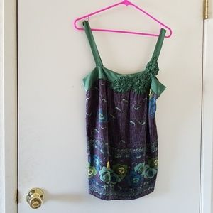 Nwt Mint by Jodi Arnold green floral camisole sz 4